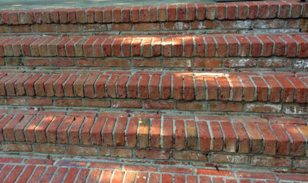 Exterior Cleaning Brick Steps