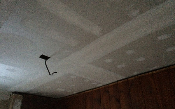 Spackling Ceiling Before